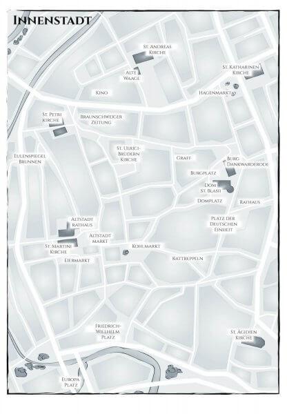 Braunschweig Innenstadtplan
