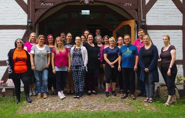 Schreibgruppe am Schreibwochenende 2019 - Gruppenfoto