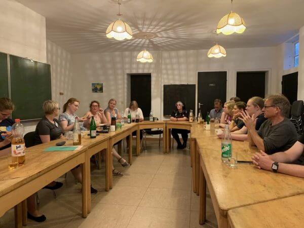 Schreibgruppe beim Kennenlernen