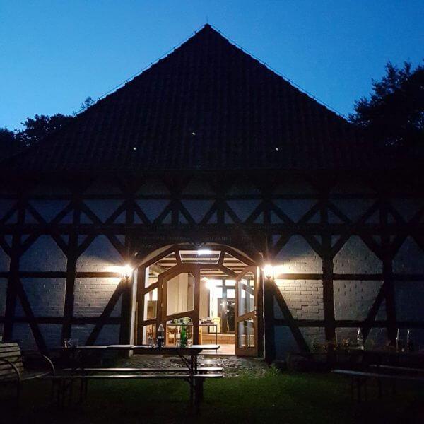Forsthaus Lüsche am Abend