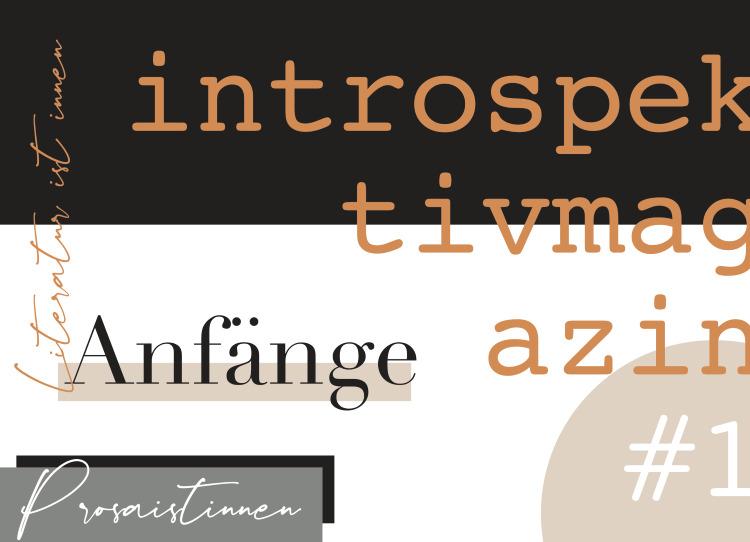 introspektiv-Literaturmagazin # 1 -Anfänge Cover