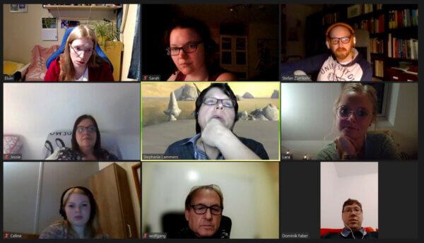 Schreibgruppe am 18.08.2021 Screenshot des Zoom-Meetings